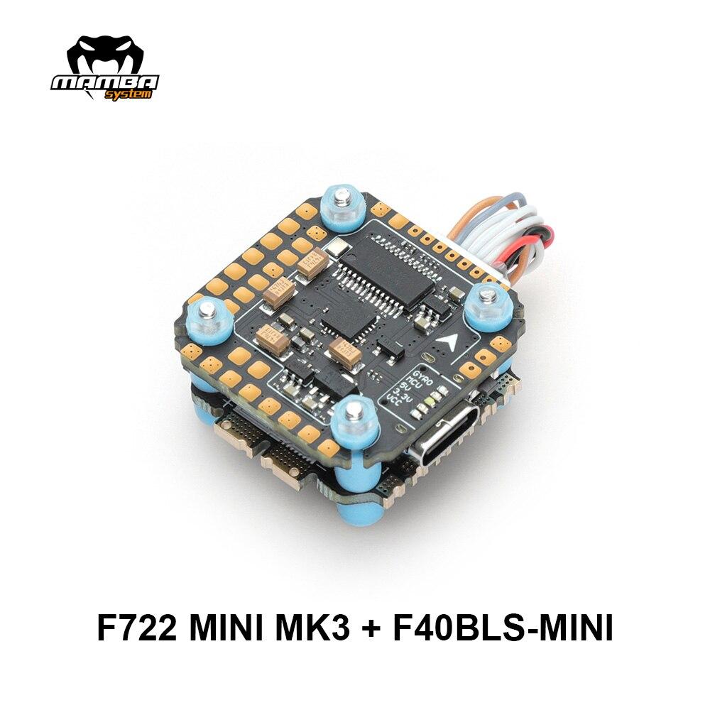 Diatone MAMBA Basic F722 MINI MK3 40A 6S 8Bit Flight Controller Stack F7 FC 40A ESC وحدة التحكم الإلكترونية في السرعة 20 مللي متر/م 2 مع التلفزيون