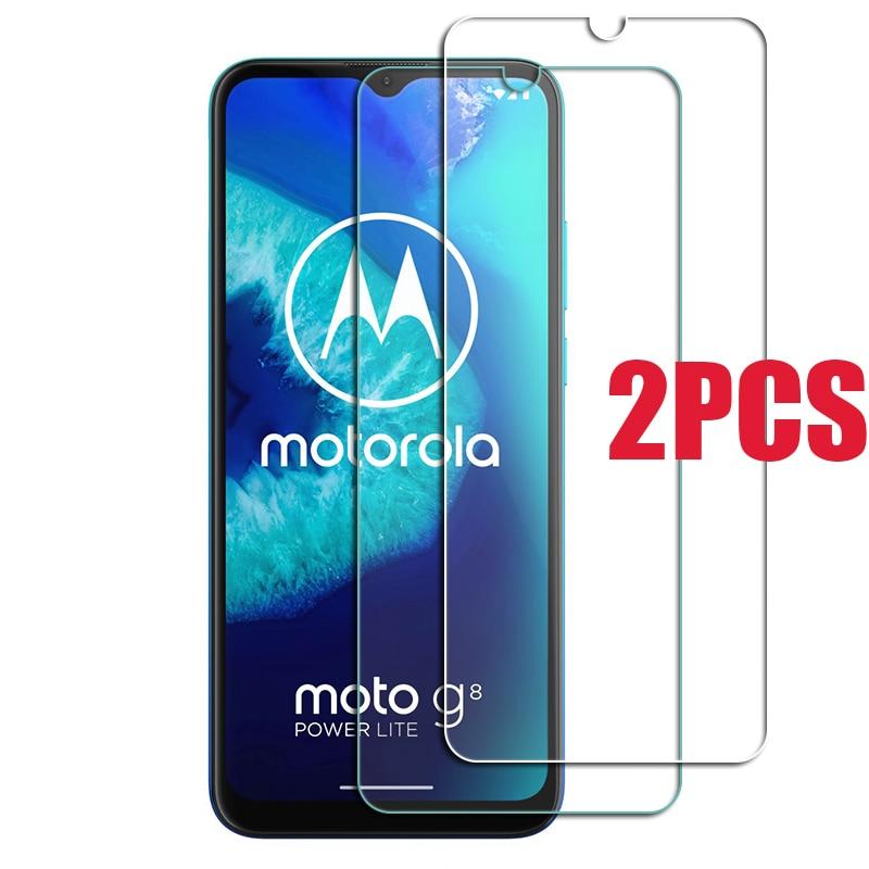 2PCS For Motorola Moto G8 Power Lite Glass Screen Protective Tempered Glass ON Moto e6s G7 Play plus E 2020 Protector Cover Film