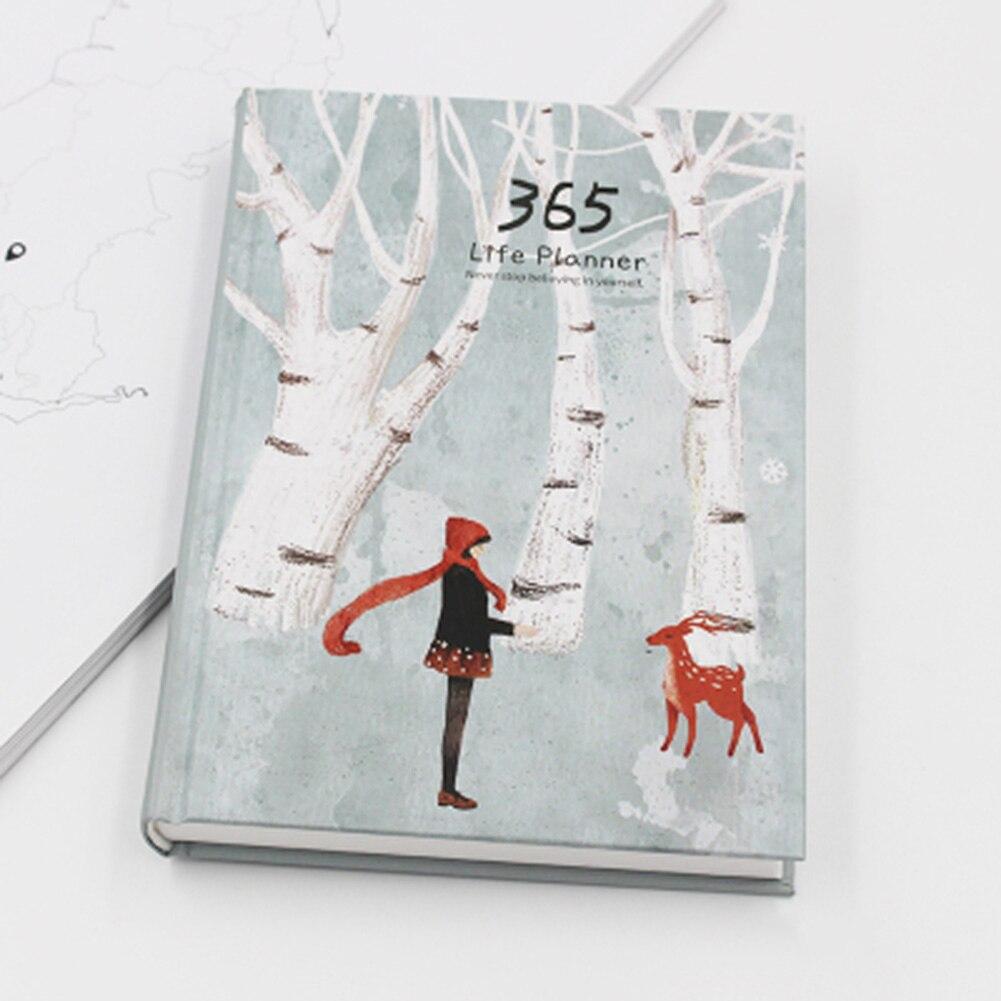 Papelería Linda Kawaii Notebook revistas de la escuela 365, 2020 planificador A5 semanal mensual diario planificador 2021 cuadernos.