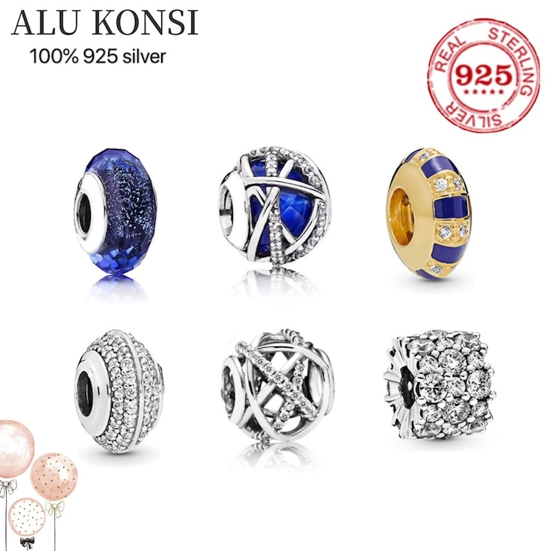 hot sale Luxury Original 100% 925 Sterling Silver charms pan beads for Women fashion Authentic DIY Jewelry Christmas gift