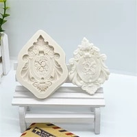 1pc frame lace silicone resin molds cake fondant molds cake decorating tools pastry kitchen baking accessories ftm781