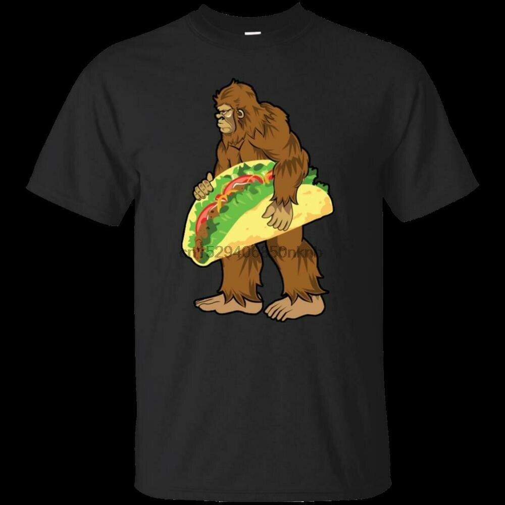 Camiseta de manga corta Bigfoot con Taco negro para hombre