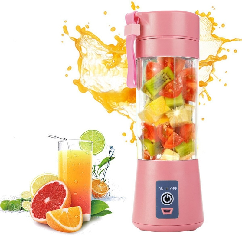 Portable Glass Blender USB Mixer Electric Orange Juicer Machine Smoothie Blender Mini Food Lemon Squeezer Juice Press Extractor 45w 700ml household portable juicer electric orange lemon fruit squeezer extractor electric juicer extractor fruit press machine