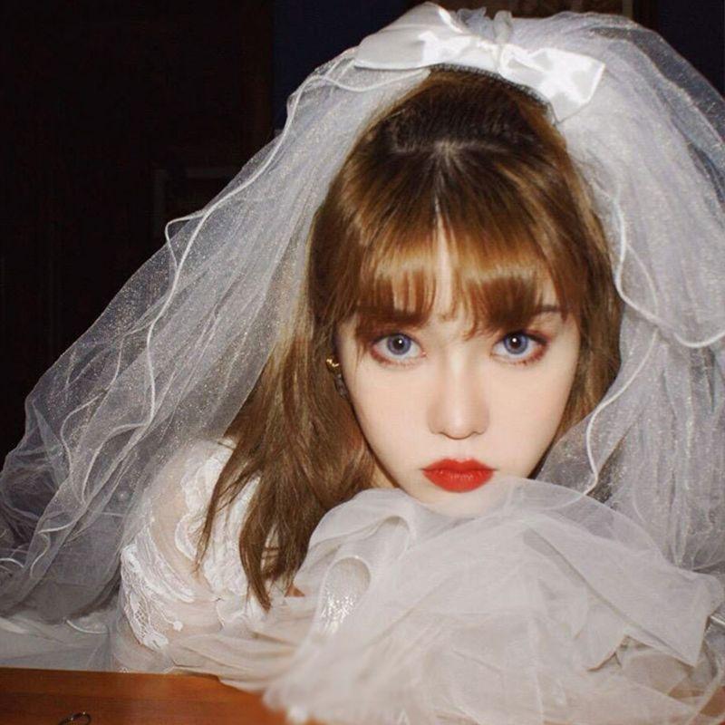 Velo de boda de 4 niveles con peine, con bordado de perlas de imitación, lazo de satén, Top ondulado, ribete de volantes, accesorios para el cabello fiesta nupcial romántica