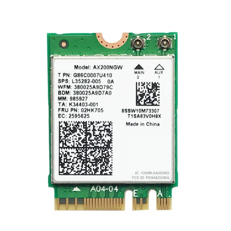 WIRCARD لثنائي النطاق AX200 2400Mbps اللاسلكية AX200NGW NGFF M.2 بلوتوث 5.0 واي فاي بطاقة الشبكة 2.4G/5G 802.11Ac/Ax