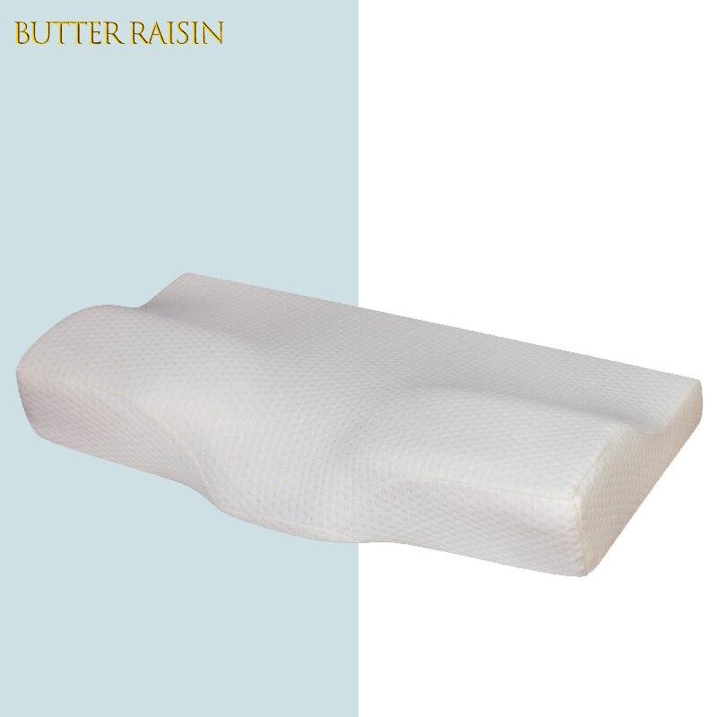 وسادة حماية للرقبة مصنوعة من الفوم اللزج ، وسادة الأمومة على شكل ارتداد بطيء ، للنوم الصحي ، وسائد تقويم العظام 60 × 34 سم
