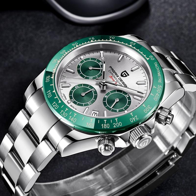 PAGANI DESIGN Classic Luxury Men's Chronograph Top Brand Stainless Steel Waterproof Quartz Watches S