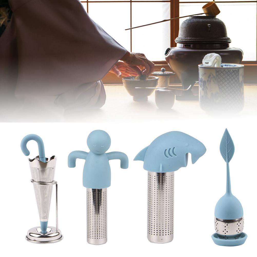 8 Style Silicone Tea Infuser Reusable Tea Strainer Sweet Leaf with Drop Tray Novelty Tea Ball Herbal Spice Filter Tea Tool yard bouncy castle inflatable jumping castles 3 5 3 2 7m trampoline for children house inflatable bouncer with slide blower