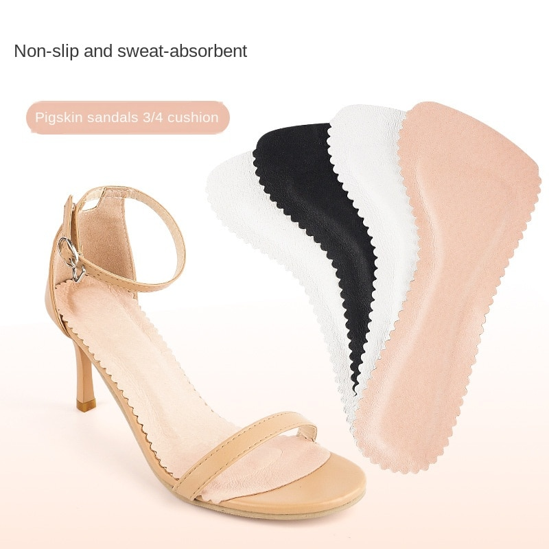 V Women's Sandals Insoles Self-adhesive Pigskin Non-slip Shock-absorbing Breathable Sweat-absorbent