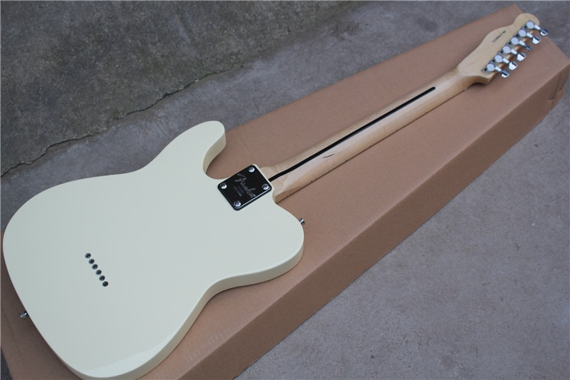 Inherit the classic wood color electric guitar chrome accessories can be customized as required enlarge