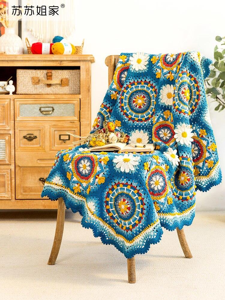 lavena patchwork blanket swaddle hand-made Crochet blanket 4-6y baby blankets newborn bedding children bed