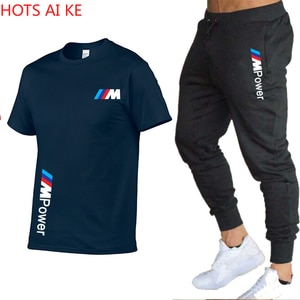 Summer Men's Sports Suit With Round Collar Printed Casual Short Sleeves + Shorts 5 Cropped Trousers for Men