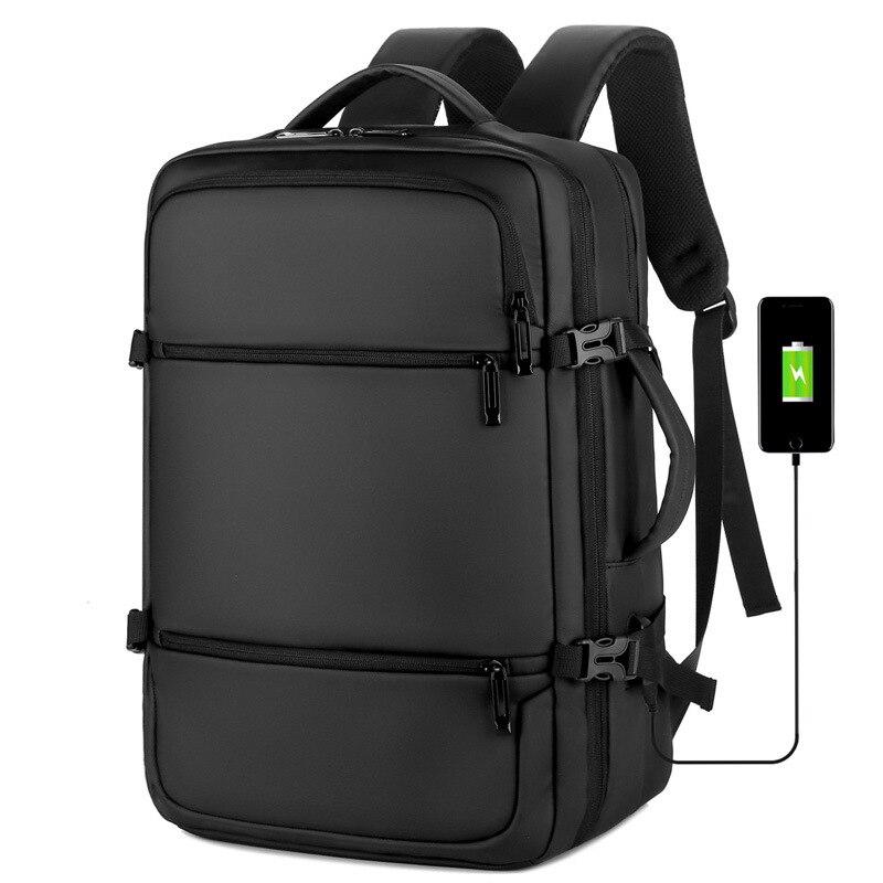 Модный деловой Многофункциональный водонепроницаемый дорожный рюкзак с Usb для мужчин и студентов, рюкзак для компьютера, деловые сумки унисекс | АлиЭкспресс