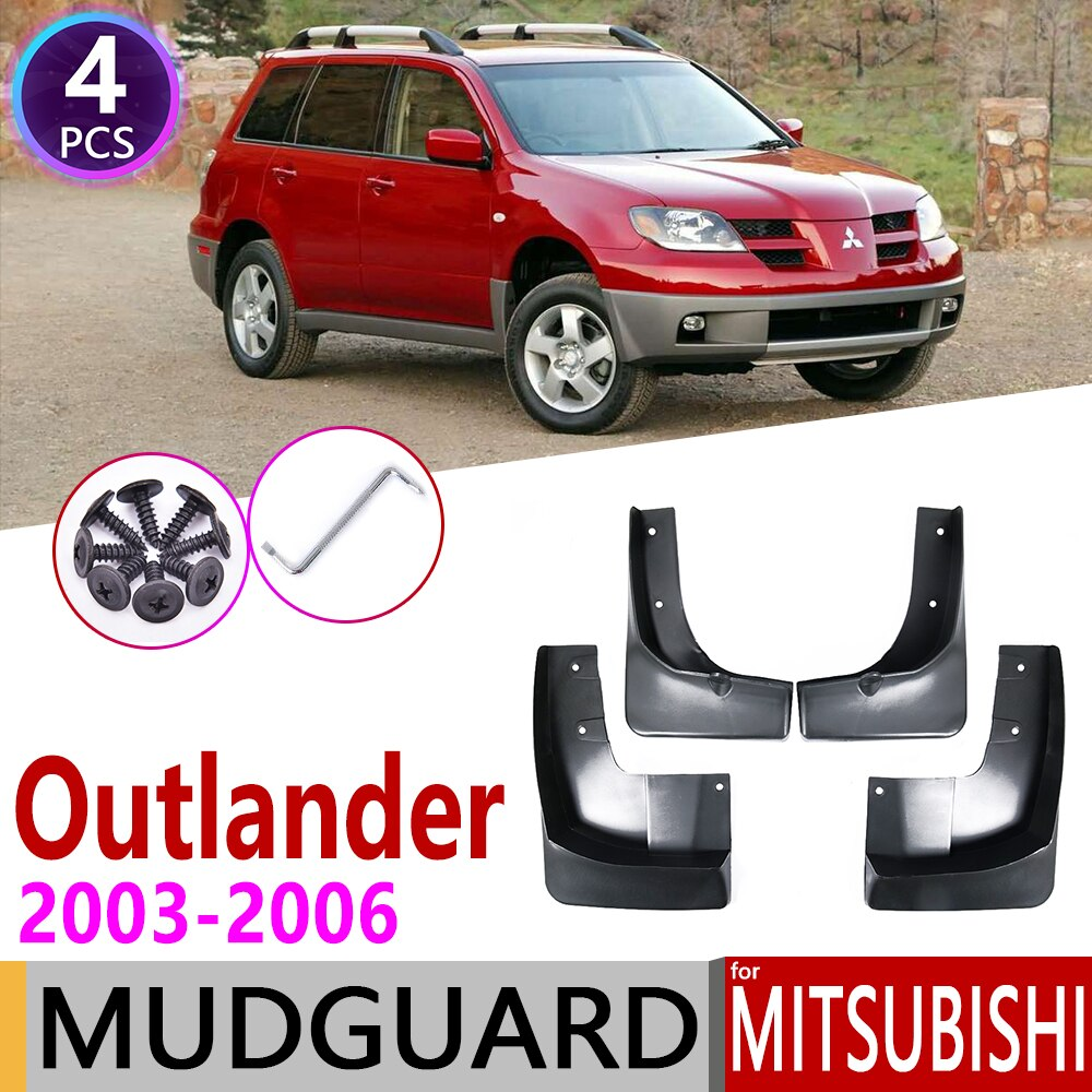 4 PCS para Mitsubishi Outlander 2003 ~ 2006 Acessórios Mudflaps Carro Fender Mud Guard Flap Lamas Lamas do Respingo Flaps 2004 2005 1st Gen