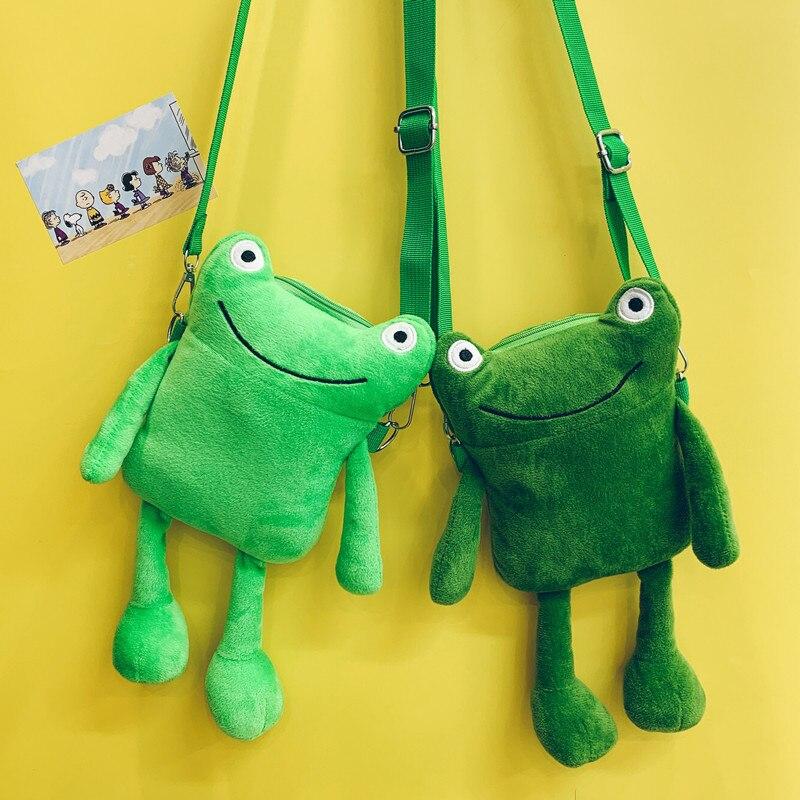 Wholesale Korean Frog Bag Women 2020 New Personality Shoulder Messenger Bag Funny Cute Cartoon Plush Bag