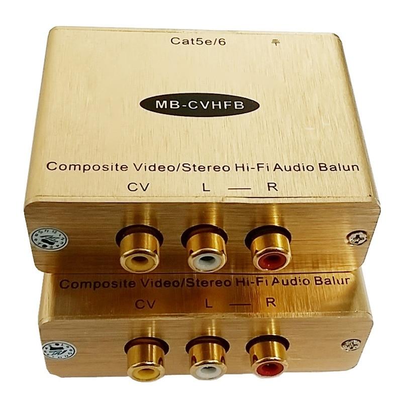 AV Extender Red White Yellow Audio Video Twisted Pair Transmitter Composite Lotus AV To RJ45 Network Cable