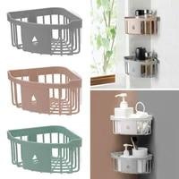 Etagere murale de salle de bain en plastique  organisateur dangle  caddie de douche  porte-shampooing  support ideal pour le rangement