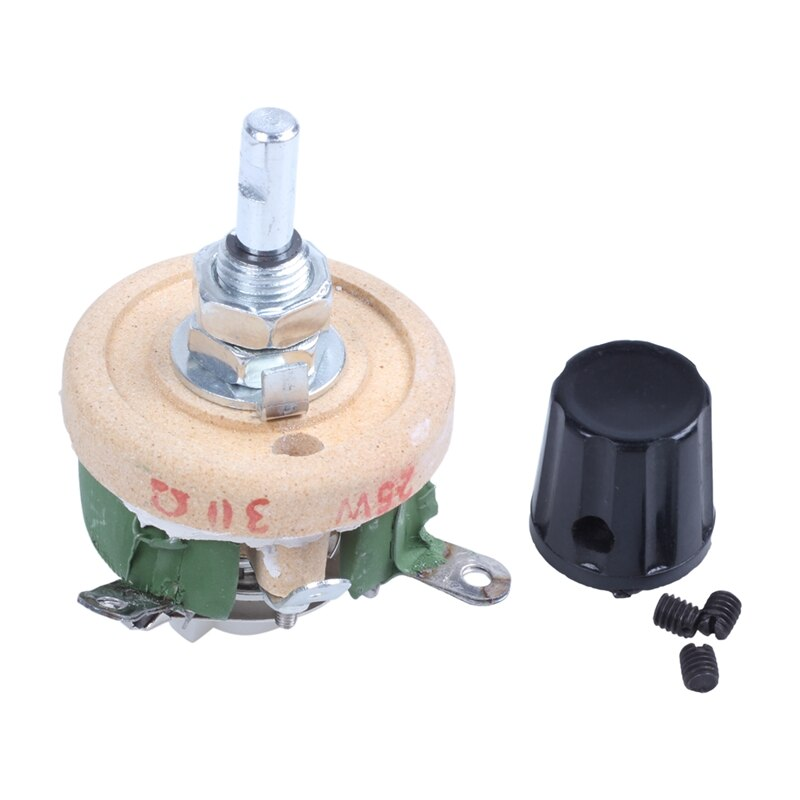 Resistencia de giro solo 25W 30 Ohm, Reóstato de disco de cerámica ajustable