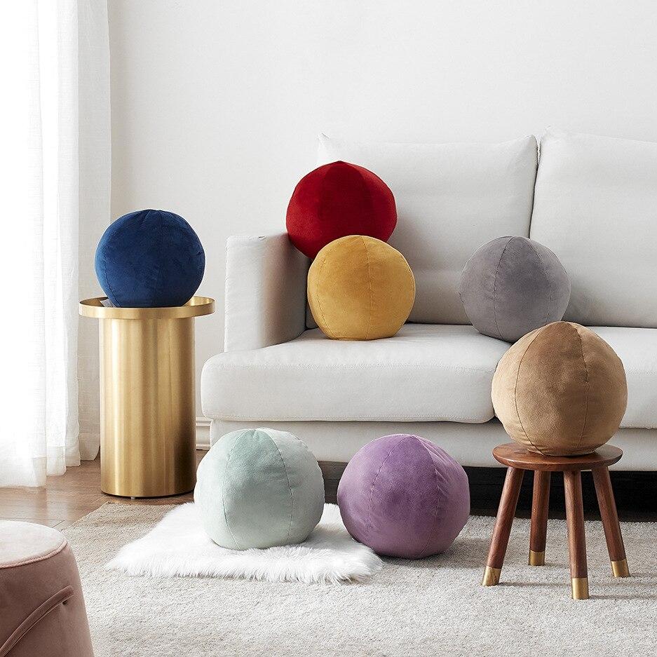 وسادة على شكل كرة 30 سنتيمتر ، لعبة فاخرة ، دافئة ، وسادة صيانة ، كرة ، للمنزل ، غرفة نوم الأطفال ، وسادة الظهر