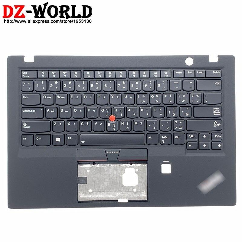 غلاف علوي لجهاز Lenovo Thinkpad X1 Carbon 5th Gen C ، لوحة مفاتيح عربية بإضاءة خلفية ، جراب كمبيوتر محمول أصلي ، 01LV272 ، جديد
