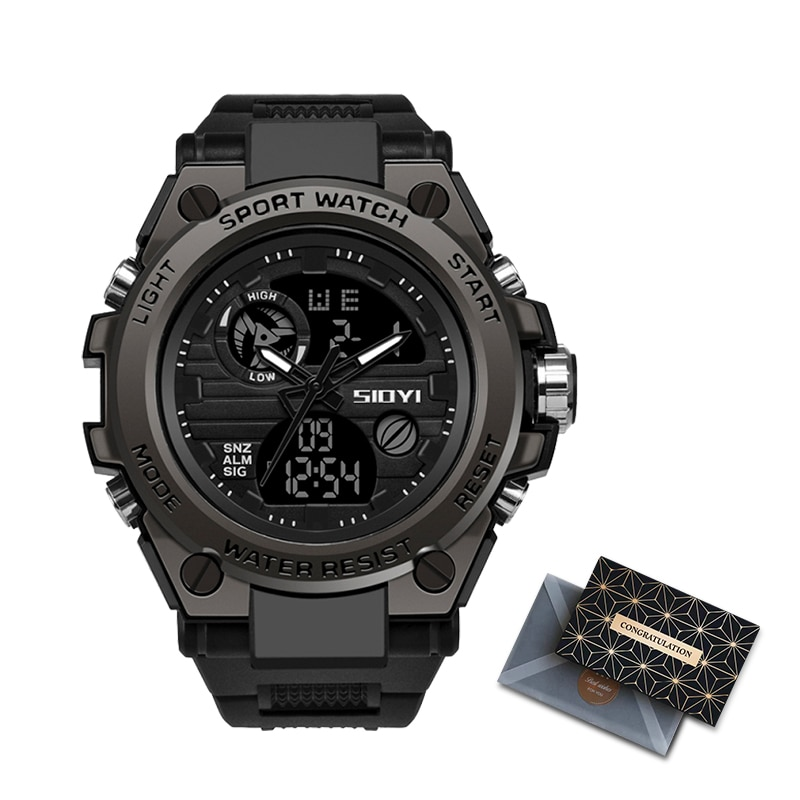 SIOYI G Style Military Sports Watches Mens 50M Waterproof Digital Wristwatch Man Quartz For Men Clock Male Relogio Masculino