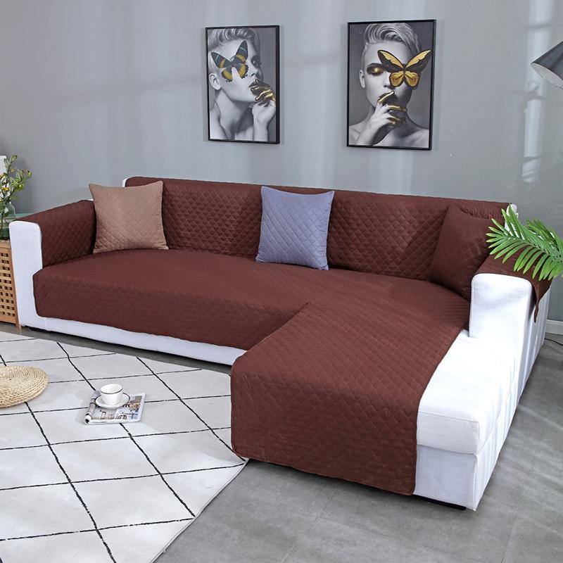 Impermeable tipo L sofá cubierta perro chico estera muebles de sillón Protector lavable apoyabrazos sofá cubre fundas 1/2/3/4/asiento