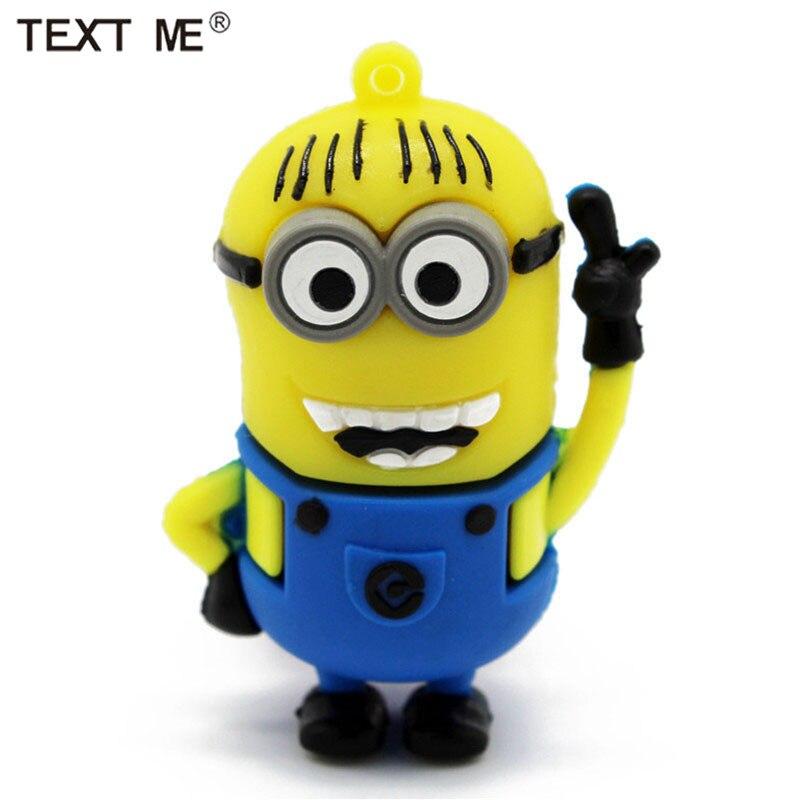 Texto ME 32GB lindo personaje de dibujos animados Modelo usb unidad flash usb 2,0 2GB 4GB 8GB 16GB 32GB 64 GB memoria usb para regalo