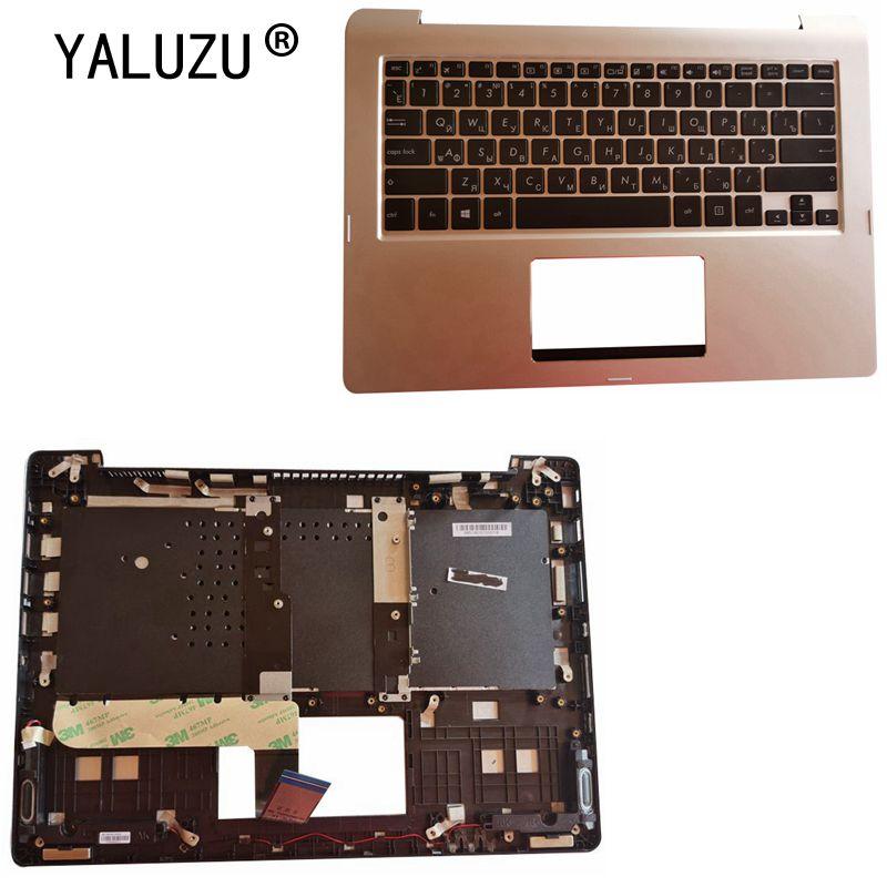Teclado de ordenador portátil ruso para ASUS TP300 TP300L TP300LD Q302 Q302LA Q304 TP300LA TP300LG TP300UA cubierta superior de reposamanos plateado RU