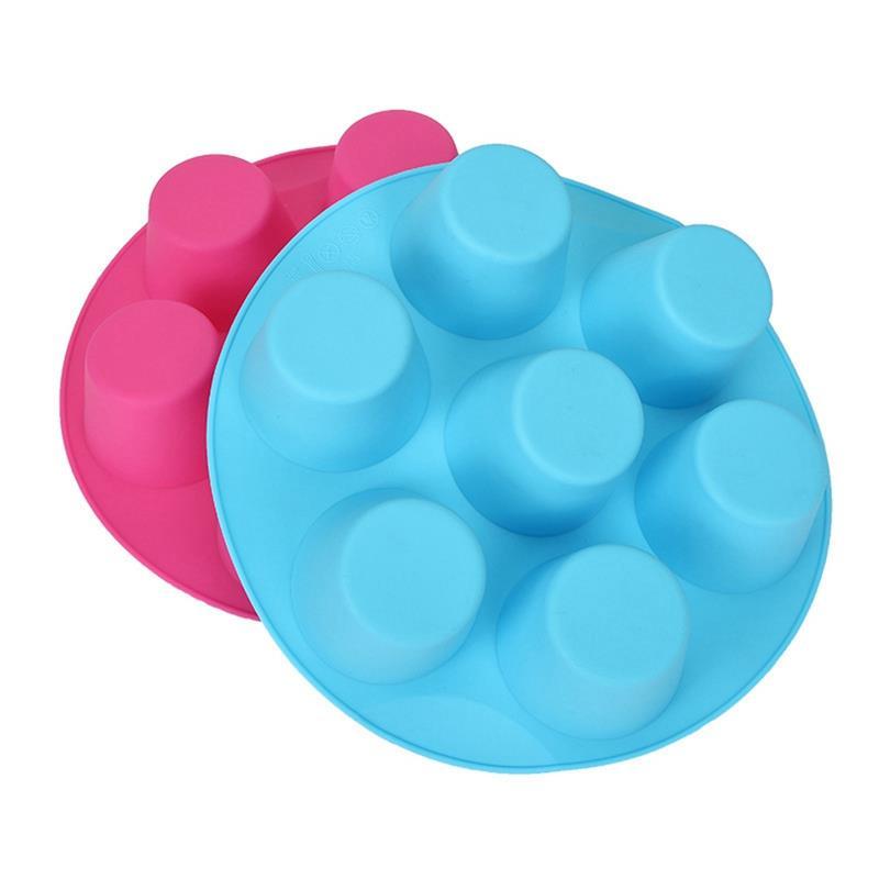 Moldes de silicona para hornear magdalenas, 7 cavidades, caja fuerte, taza para...
