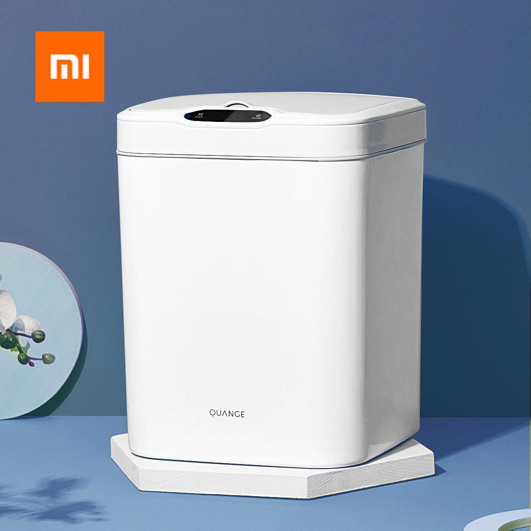Xiaomi Quange GA1 Smart Induction Classified Trash Can 15L Digital Display Touch Screen Double Barrels Household Ashcan Dustbin