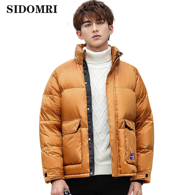Couple hooded down jacket fashion bright color winter fashion hot style bread dress clothing thick warm men women down coat