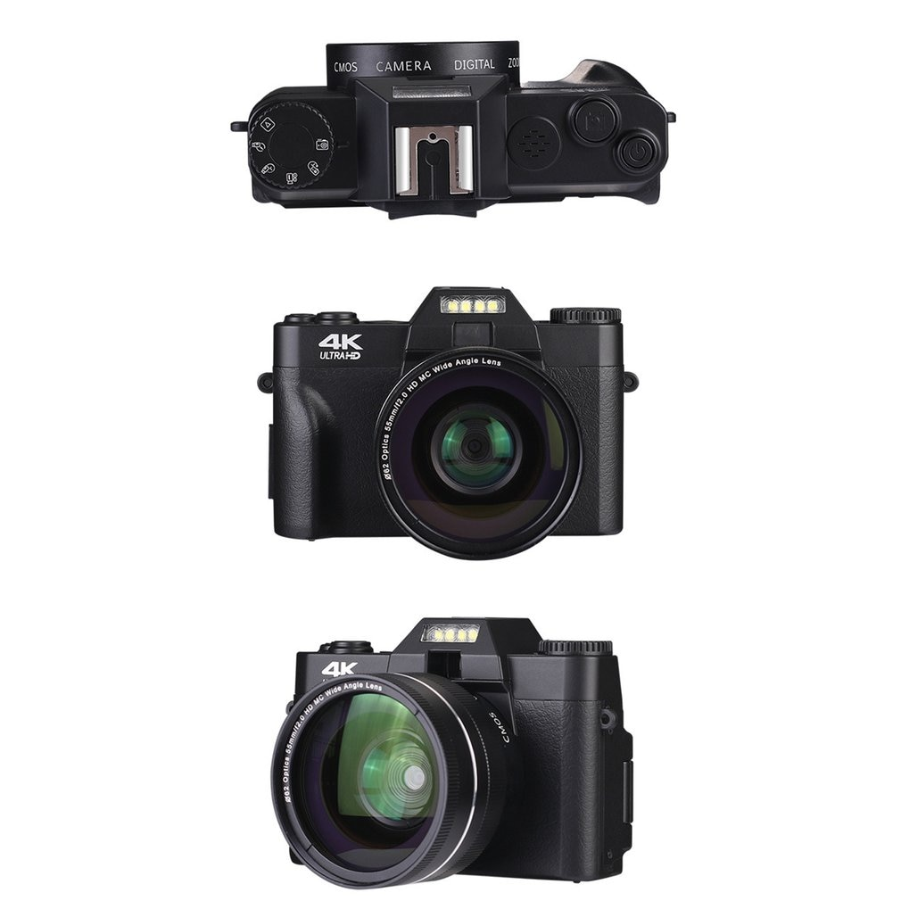 2021 4K HD Half-DSLR Professional Digital Cameras With 16X Wide Angle Lens Camera Macro HD Camera With WiFi Time-lapse Shooting enlarge