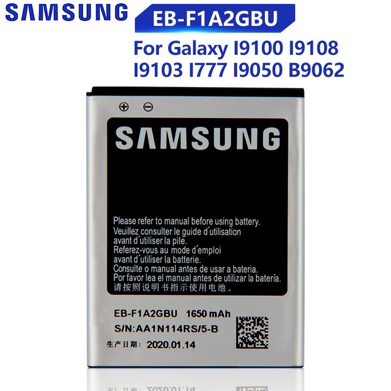 Оригинальная запасная батарея Samsung для Galaxy S2 I9100 I9050 B9062 I9108 I9103 I777 натуральная батарея для телефона EB-F1A2GBU 1650 мАч