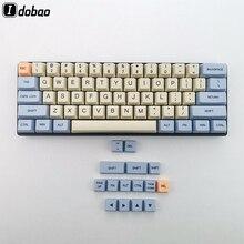 Bleu Beige Orange colorant sous 64 68 épais PBT Keyset porte-clés OEM profil Keycaps pour clavier mécanique YD60M XD64 GK64 Tada68