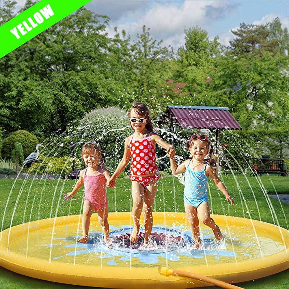 Spray de Agua inflable para exteriores para niños de 170cm, rociador para niños con arco iris de unicornio, juguete de coco con diseño de nube