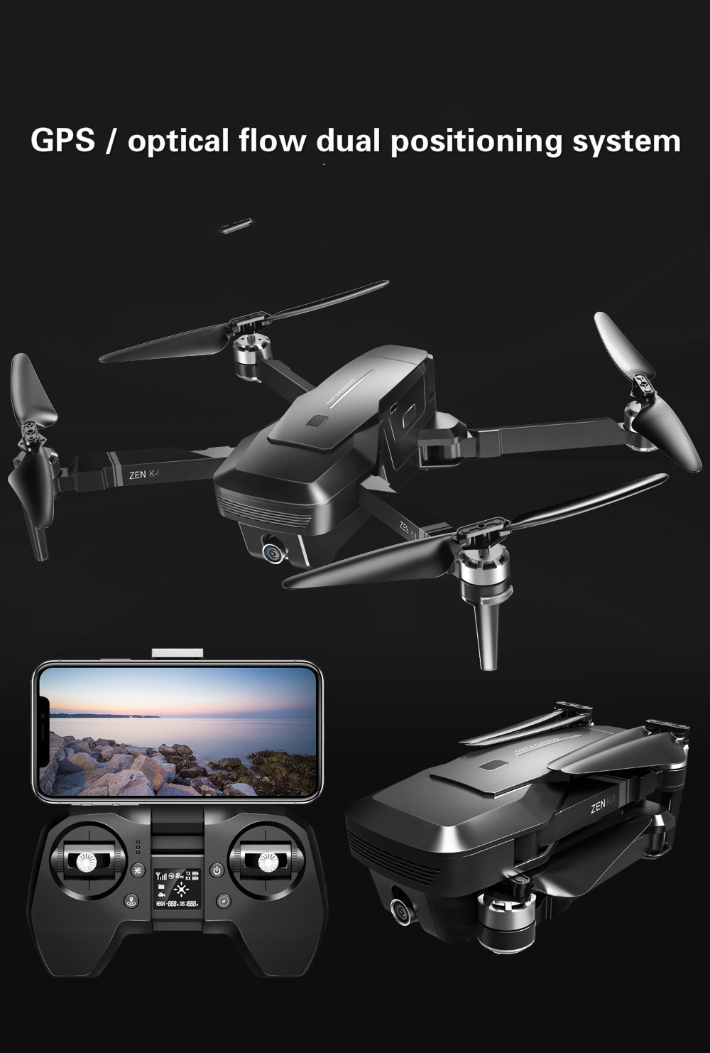 Nueva fotografía aérea profesional plegable sin escobillas GPS 5G Wifi 4KCamera 4axis Panoramas Rc Quadcopter Rtf Dron Uav juguetes de regalo