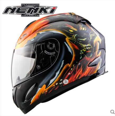 Mejor casco de motocicleta seJiadexi nenki para hombres y mujeres casco de cara completa cuatro estaciones de carreras locomotora anti-niebla casco completo cubierta