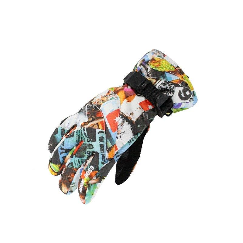 Детские водонепроницаемые ветрозащитные рукавицы Gsou, зимние технические рукавицы для детей 8-14 лет, перчатки для катания на лыжах, сноуборд...