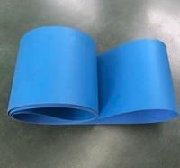 1500x100x2mm pu blue conveyor belt food grade antibacterial conveyor belt assembly line flat belt
