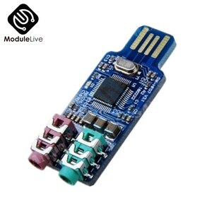 CM108 USB Drive Free Sound Card Laptop Computer External Sound Card Module Board Electronic Tools