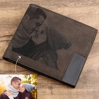 new no logo men wallet personalized gifts for men him her custom photo wallet pu leather short wallets purse fathers day gift