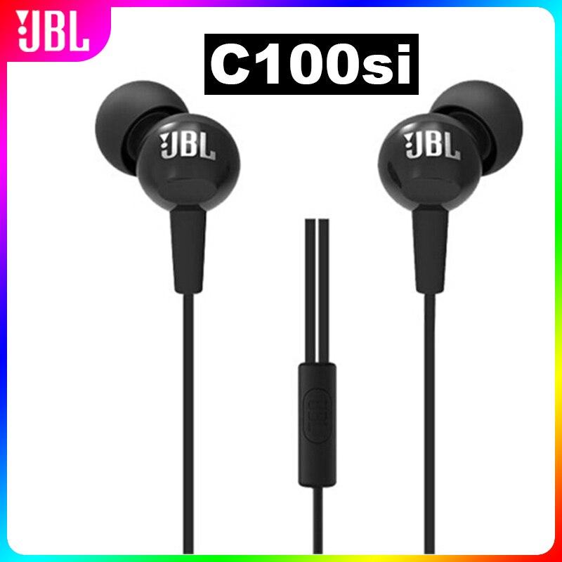 Fones de Ouvido Fone de Ouvido Handsfree com Microfone 3.5mm com Fio Estéreo Graves Profundos Esportes Música Jogos Chamadas Jbl C100si