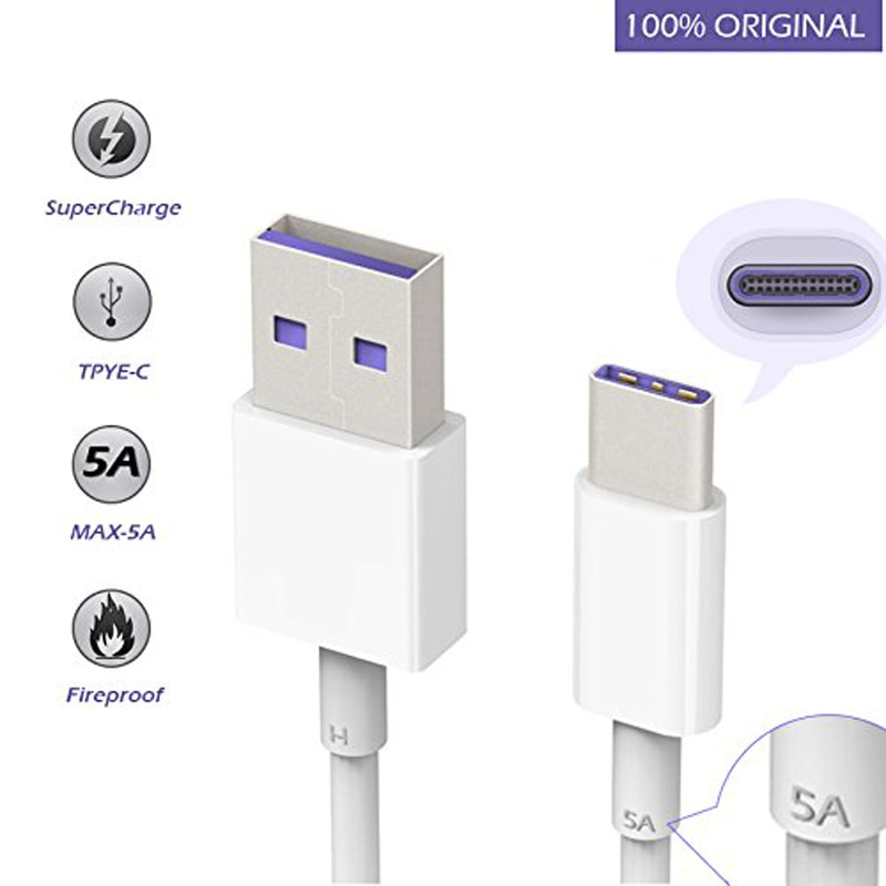 5A Super rápido de carga USB tipo C para Huawei P30 P40...