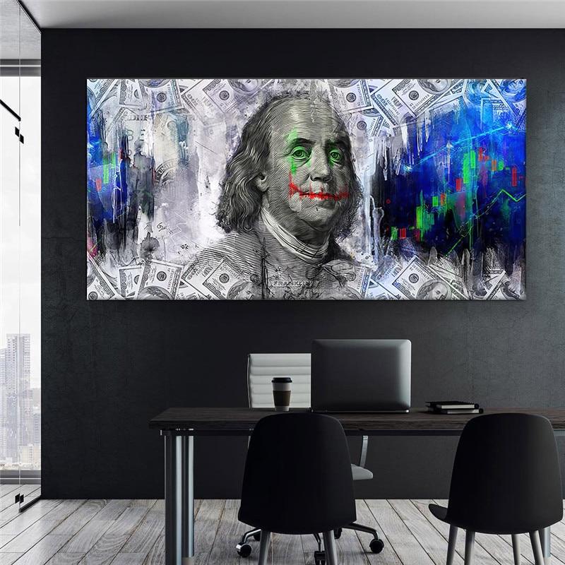 Póster de pared Para salón de belleza, pintura en lienzo, Cuadros Modernos, imágenes de dinero, Na Sciane plaaty, Mural de mesa, decoración
