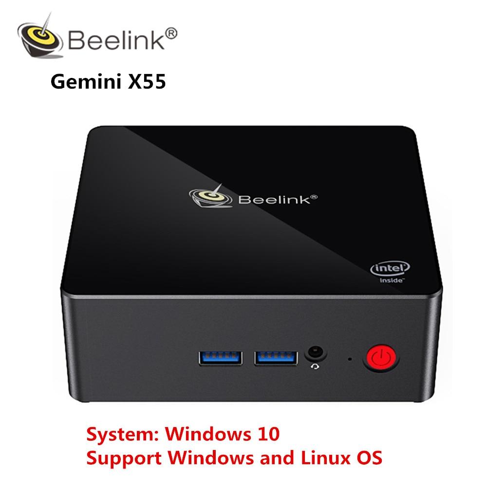 Mini PC Beeline Gemini X55 J5005 Windows 10 8GB LPDDR4 256/512GB 2,4 GHz + 5GHz WIFI 2 * HDMI BT4.0 soporte de Windows y Linux