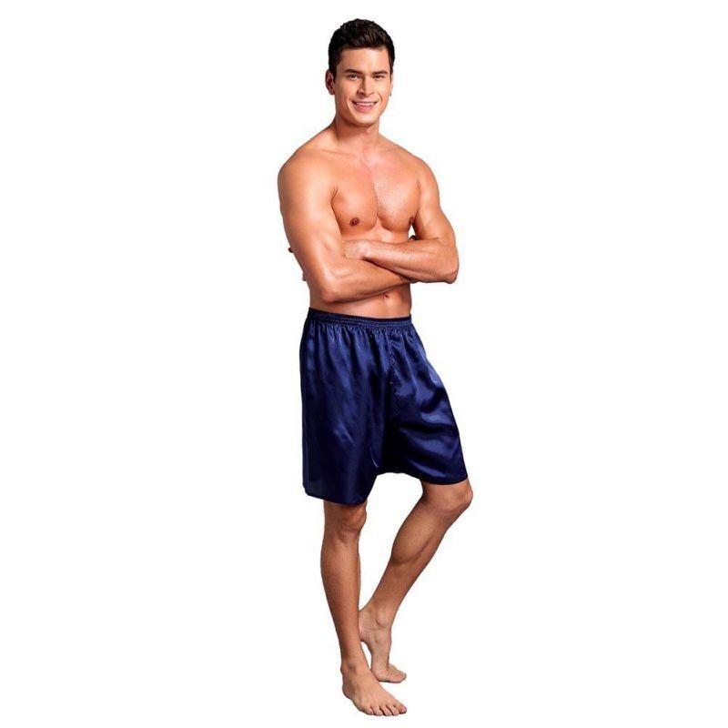 Men Pajama Shorts Sleep Bottoms Solid Lounge Short Pants Soft Summer Sleeping Shorts Home Pajama Pan