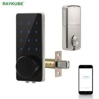 TT Lock Bluetooth Deadbolt Fingerprint Door Lock Smart Card Digital Code Electronic For Home Security Mortise Smart Home