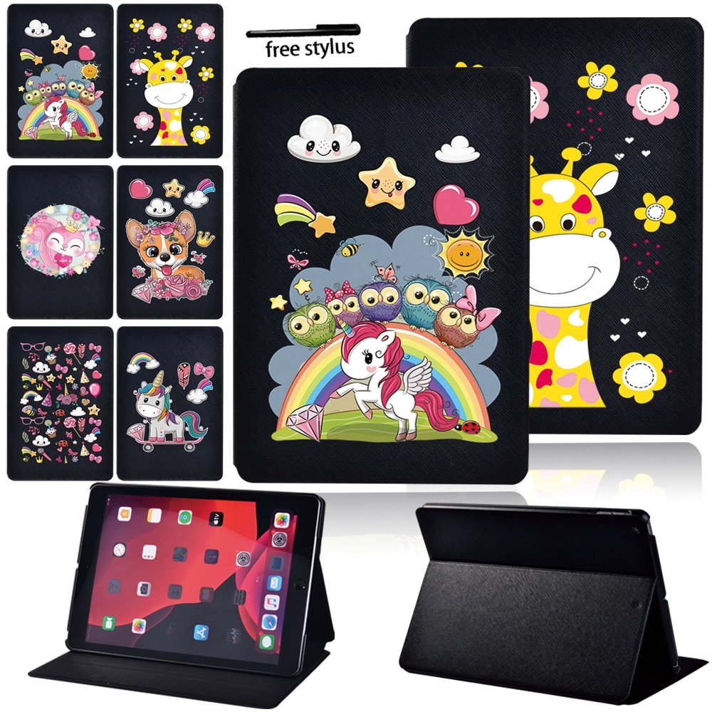 Tablet Case for IPad 2/3/4/iPad 8/iPad Pro 9.7/ Pro 11/iPad 5th/6th/7th/iPad Air 4/1/2/3/IPad Mini 1/2/3/4/5 Cover Case + Stylus