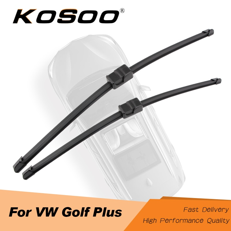"""Kosovo para volkswagen golf plus 28 """"+ 28"""" r, ajuste lado pino braço 2005 2006 2007 2008 2009 lâminas de limpador automático limpar o pára-brisa"""