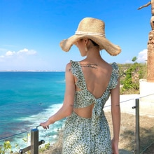 New Bohemianach Women dress S 2020 Bali Ultra Amrita Back On Holiday Sea Dresses Floral 9951